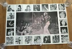 1960's Period Rare Rolling Stones Vintage Concert Collage Poster 35 X 23.5
