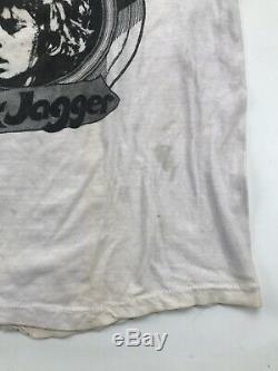 1970's 70s THE ROLLING STONES vtg rock concert t-shirt Rare Mick Jagger A1609