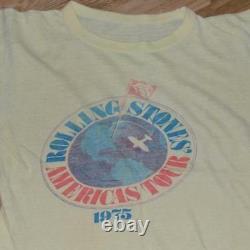 1975 THE ROLLING STONES vintage rare concert tour t-shirt tee (S/M) 70's Rock