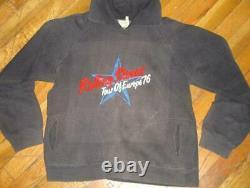 1976 ROLLING STONES vtg rock concert tour sweatshirt (S) Rare 70s shirt jacket