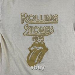 1978 Rolling Stones SHOWCO Vintage Tour Band Rock Shirt 70s 1970s Led Zeppelin