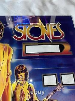 1980 Bally Vintage Original Rolling Stones pinball Back Glass Not A Repro