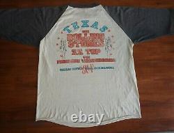 1981 Rolling Stones Cotton Bowl Shirt Tour Concert T-shirt Raglan Texas Jersey