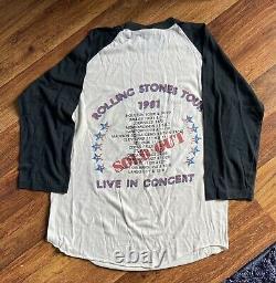 1981 vintage the rolling stones tour t shirt