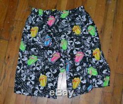 1989 ROLLING STONES vtg concert tour 1980's jams shorts (S) Small Rock Shirt