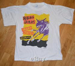 1990 THE ROLLING STONES vtg rock concert tee t-shirt (M/L) 80's 90's Euro Tour