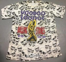 1994 Vintage Rolling Stones Voodoo Lounge U. S. Tour Concert Shirt XL RARE Jagger