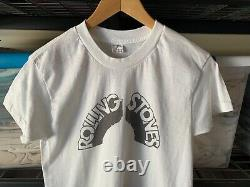 70s VINTAGE THE ROLLING STONES T-SHIRT MEN SZ S SOFT THIN DISTRESSED 1970s