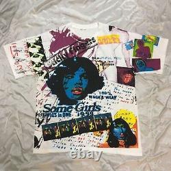 90s ROLLING STONES T-shirt Full Print Vintage Berberjin Weber From JAPAN