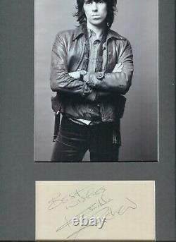 Autographe ORIGINAL Vintage signed du Musicien KEITH RICHARDS The ROLLING STONES