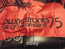 Awesome Rare Vintage 1975 Rolling Stones Concert Tour Of Americas Banner Towel