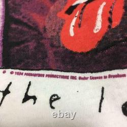 Brockum ROLLING STONES Rock Band Full Print T-shirt Men's Size XL 90s Vintage