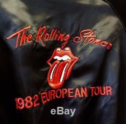 Genuine Vintage Rolling Stones 1982 European Tour Satin Promo Bomber Jacket M-L