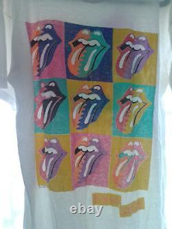 Genuine original vintage Rolling Stones Urban Jungle 1990 Tour T-shirt VG con