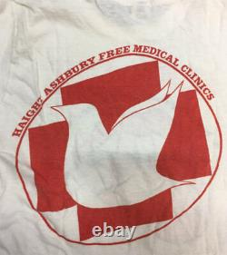 Haight Ashbury Free Clinic Staff Shirt Rare 1978 Day on the Green Rolling Stones