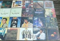Huge Lot Of 42 Classic Rock VTG LPs Vinyl Records Van Halen, Rolling Stones, Etc