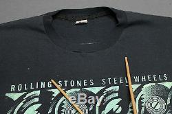L thin vtg 80s 1989 the ROLLING STONES Toronto x Montreal CANADA tour t shirt