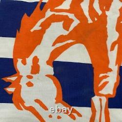 NEW VINTAGE Starter Shirt Mens XL Orange Blue Denver Broncos NFL All Over Print