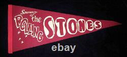 Original 1969 Vintage ROLLING STONES Rock Band FELT CONCERT PENNANT