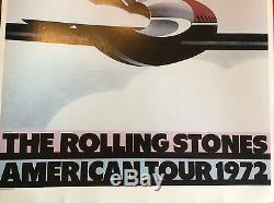 Original Vintage Poster The Rolling Stones American Tour 1972 Airplane Pop Music