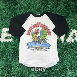 RARE LARGE Vintage 1981 Rolling Stones Tour Raglan Baseball Shirt Large Band Tee