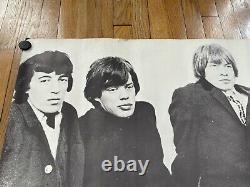 RARE Large 1966 Vintage Rolling Stones Poster 41inx26in Jagger Classic Rock