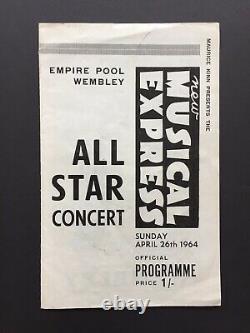 RARE Rolling Stones Program Original 1964 Concert Tour NME Booklet Vintage 60s