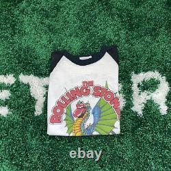 RARE Vintage 1981 Rolling Stones Tour Raglan Baseball Shirt Large 80s Band Tee