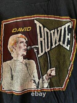 RARE vintage David Bowie 70s 80s T-shirt Concert Tour Band Rock Rolling Stones M