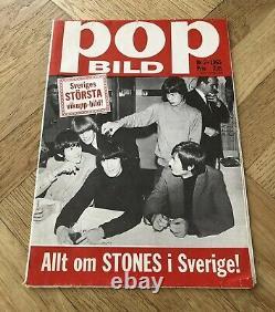 ROLLING STONES 1965 Brian Jones Poster Swedish Music magazine Okej Vintage 1960s