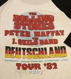ROLLING STONES SHIRT EUROPE VINTAGE 1982 CONCERT TOUR GERMANY RaRe