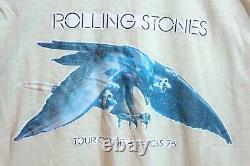 ROLLING STONES Tour Of The Americas 1975 Vintage Size Medium