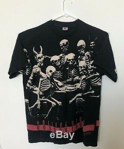 ROLLING STONES Voodoo Lounge Tour 94/95 Vintage Tee Shirt XL USED