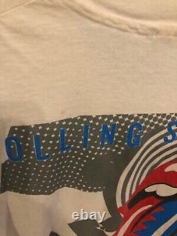 Rare Rolling Stones T Shirt Vintage 1989 Steel Wheels Concert Tour Size Large