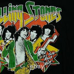 Rare VTG Rolling Stones Tour of America 1978 T Shirt 70s 80s Mick Jagger Band