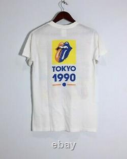 Rare Vintage 1989 Official Rolling Stones Promo Tour Band T-Shirt Free Shipping
