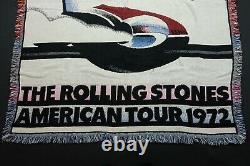 Rare Vintage GOODWIN WEAVERS Rolling Stones American Tour 1972 Blanket 80s 90s