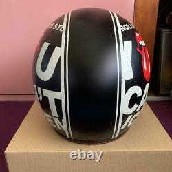 Rare Vintage Jet Helmet Bike Rolling Stones Good Condition Men's L Size