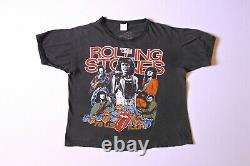Rare Vintage Rolling Stones 1978 World Tour Dragon Single Stitch Small T-Shirt