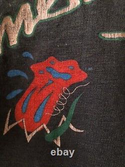 Rare Vintage Rolling Stones T Shirt 1981 Single Stich American Tour V Neck