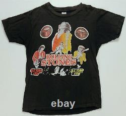 Rare Vintage Rolling Stones U. S. Tour 1978 Parking Lot T Shirt 70s 80s Band SZ M