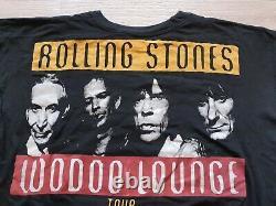 Rare Vintage Rolling Stones Voodoo Lounge European Tour 1994 / 95 Black T Shirt