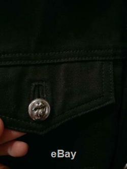 Rare vintage CHROME HEARTS Rolling Stones collaboration denim jacket M size