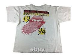 Rolling Stones 1994 Voodoo Lounge Tour Rare Original Vintage Rock T Shirt M