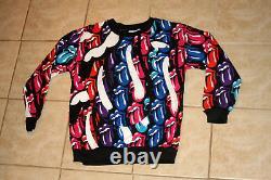 Rolling Stones All Over Print Deadstock Vintage 1989 Light Sweatshirt tshirt Med