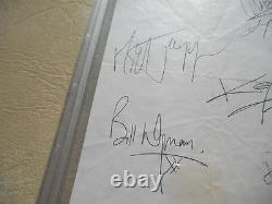 Rolling Stones Band Signed 17x31 Display Vintage With Brian Jones PSA Certified