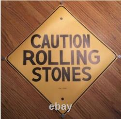 Rolling Stones Caution RARE ORIGINAL MINT VINTAGE 1969 PRE ALTAMONT POSTER