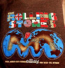 Rolling Stones ORIGINAL World-Tour 81-82 T-Shirt VINTAGE good condition