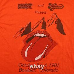 Rolling Stones Shirt Vintage tshirt 1981 Tattoo You Tour Crew Concert Tee 1980s