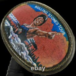 Rolling Stones Some Girls Tour Rare Kiss Tongue Jagger 70s Vintage Belt Buckle